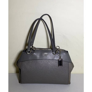 Coach Brooke gray leather satchel